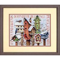 Набор для вышивания Dimensions 70-08863 Winter Housing Cross Stitch Kit