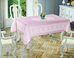 Скатертина 150х220 Tropik home Priencly Pink 5698-7
