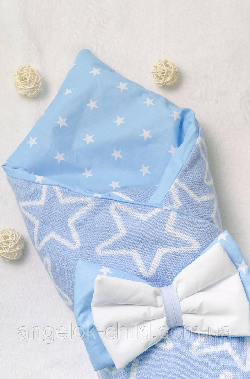 вязаный конверт одеяло на выписку демисезонный конверт на выписку