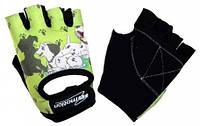 Перчатки детские без пальцев In Motion NC-1300-2010 зеленые L