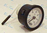 Термометр капиллярный круглый Ø52мм / Tmax=120°С с капилляром длинной 1 метр. GROSS