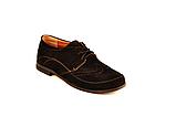 Туфлі для дівчинки шкільні шнурівка замша чорний 732119, фото 3