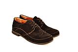 Туфлі для дівчинки шкільні шнурівка замша чорний 732119, фото 4