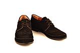 Туфлі для дівчинки шкільні шнурівка замша чорний 732119, фото 5