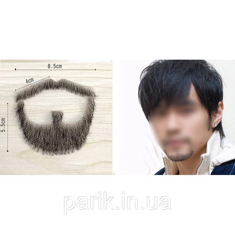 🧔 Реалистичная накладная борода и усы (чёрная щетина)