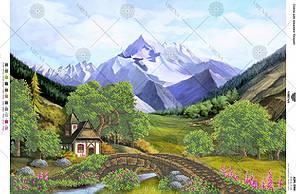 А2Н_044 . Схема для вишивки бісером Альпійські гори