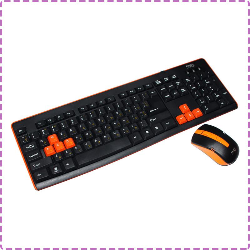 Беспроводная клавиатура и мышь HQ-Tech KM-32RF Gaming Orange, беспроводный комплект