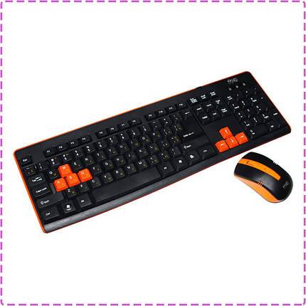 Беспроводная клавиатура и мышь HQ-Tech KM-32RF Gaming Orange, беспроводный комплект, фото 2