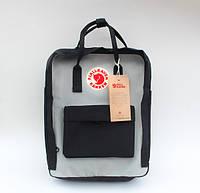 Рюкзак Fjallraven Kanken 16л classic Black/Grey