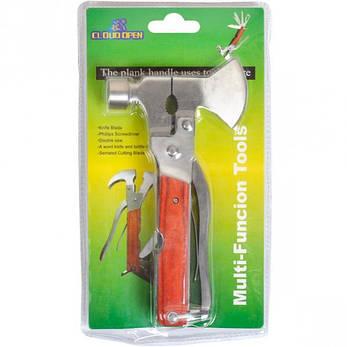 Нож карманный многофункциональный металл Топор-Молоток 16,5×9×2,5 см                        A33, фото 2