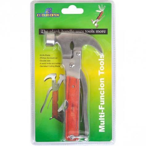 Нож карманный многофункциональный Молоток-Гвоздодер, фото 2