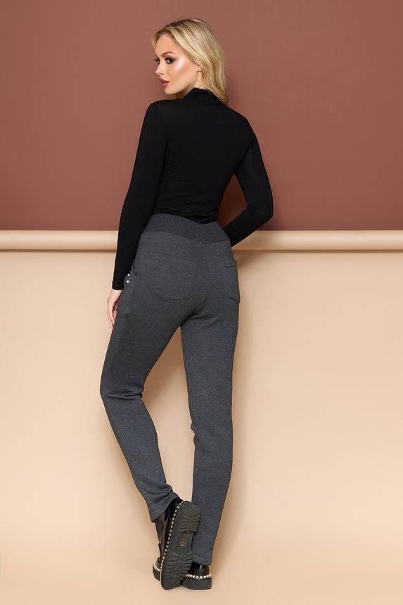 Теплые брюки со стрелками на резинке, фото 2