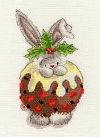 Набор для вышивания Bothy Threads XBB5 Bebunni Christmas Pudding Cross Stitch Kit