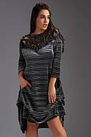 Платье большого размера Likara. Размеры: батал(48-50, 52-54, 56); супербатал(58-60,62)