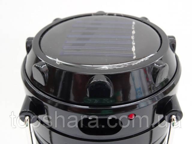 Фонарь кемпинга SH-5800T USB (1W+6Led) 2реж+solar Black