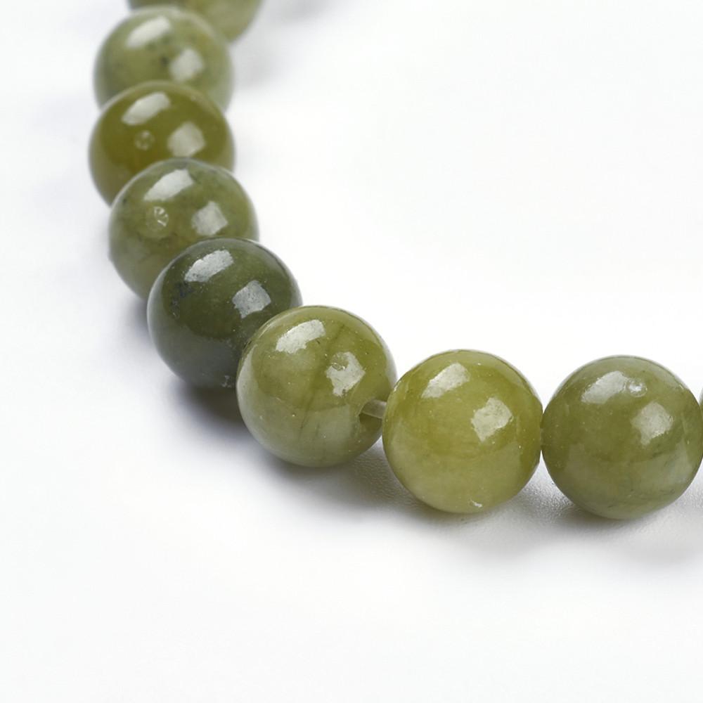 Нефрит природный бусина 8мм зеленый для рукоделия