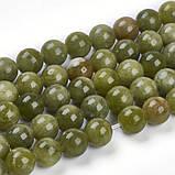 Нефрит природный бусина 8мм зеленый для рукоделия, фото 2