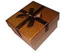 """Коробочка подарочная для часов """"Shine"""" коричневая, фото 2"""