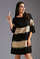 Платье большого размера Likara. Размеры: батал(50-52,54,56)