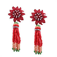 Серьги-кисти из бисера Zara, фото 1
