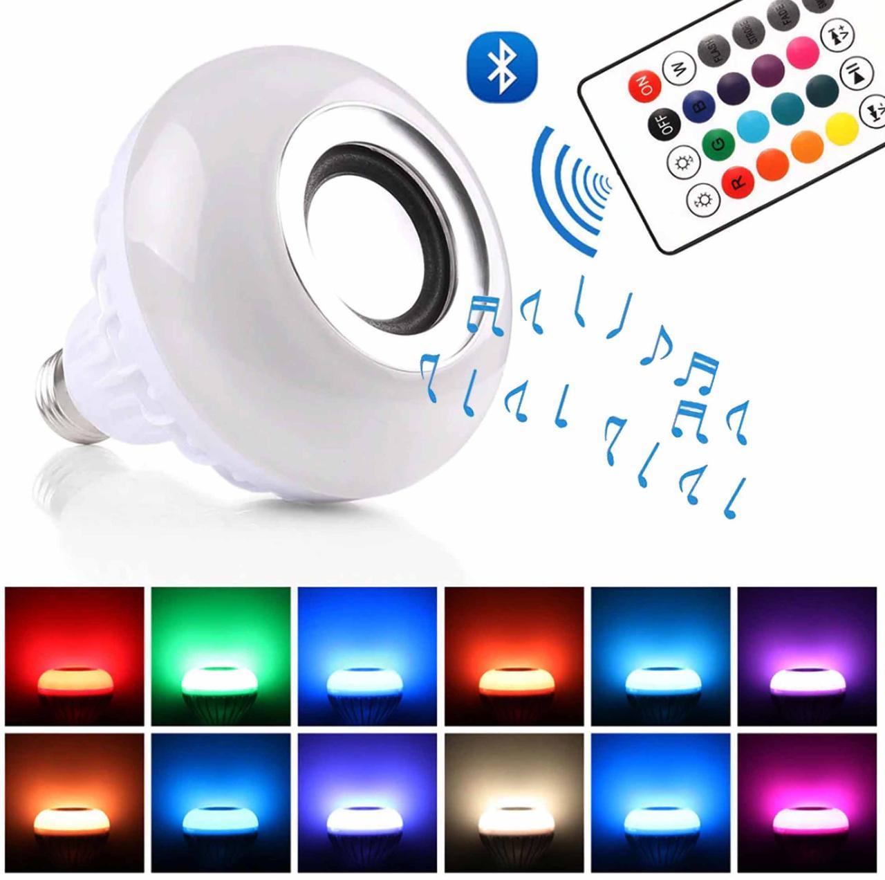 Лампа умная Bluetooth с динамиком, пультом ДУ и разноцветным свечением