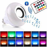 Лампочка Bluetooth с динамиком, пультом ДУ и разноцветным свечением, фото 1