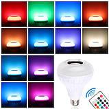 Лампа умная Bluetooth с динамиком, пультом ДУ и разноцветным свечением, фото 3