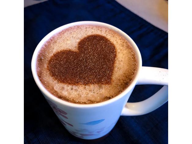 Трафарет Сердце для рисунка на кофе