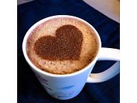 Трафарет Сердце для рисунка на кофе, фото 1