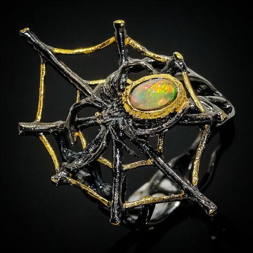 Серебряное кольцо Ручная работа . Размер 18.5