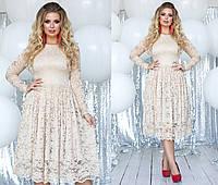 Воздушное кружевное платье от ТМ SOROKKA- Размеры: 48,50,52,54, фото 1