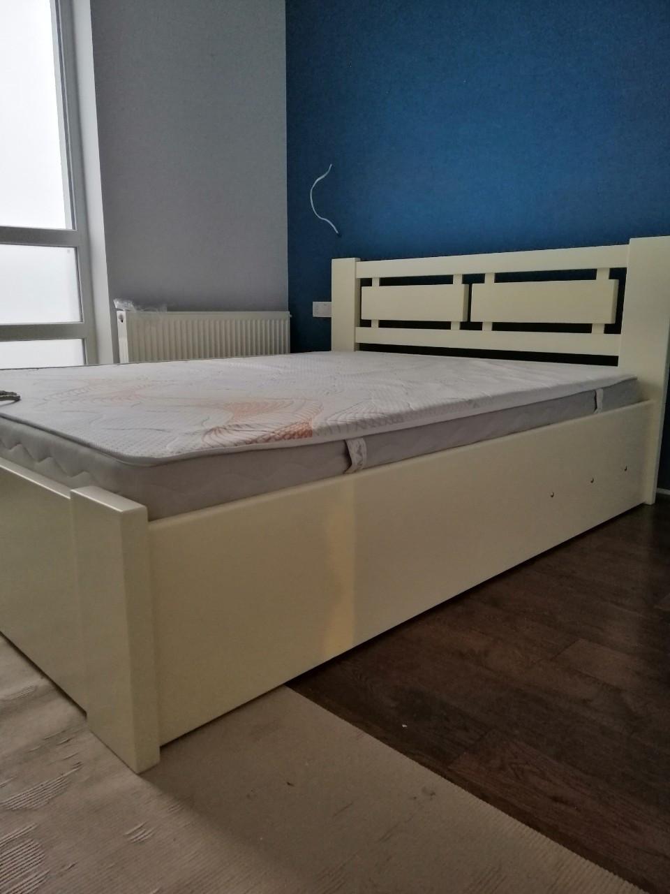 Кровать ВАЛЬС 1,6*2 с подъёмным механизмом (слоновая кость)