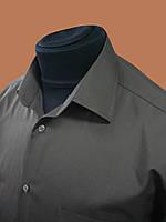 Мужская рубашка коричневая с коротким рукавом