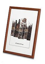Рамка 13х13 из дерева - Дуб коричневый 1,5 см - со стеклом