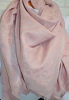 Женский платок с люрексом Louis Vuitton Shine Monogram (в стиле Луи Витон) светло-розовый
