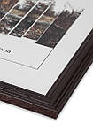 Рамка 13х13 из дерева - Дуб коричневый тёмный 2,2 см - со стеклом, фото 2
