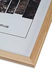 Рамка 15х15 из дерева - Сосна светлая 1,5 см - со стеклом, фото 2