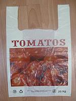 Пакет полиэтиленовые майка  ПНД TOMATOS