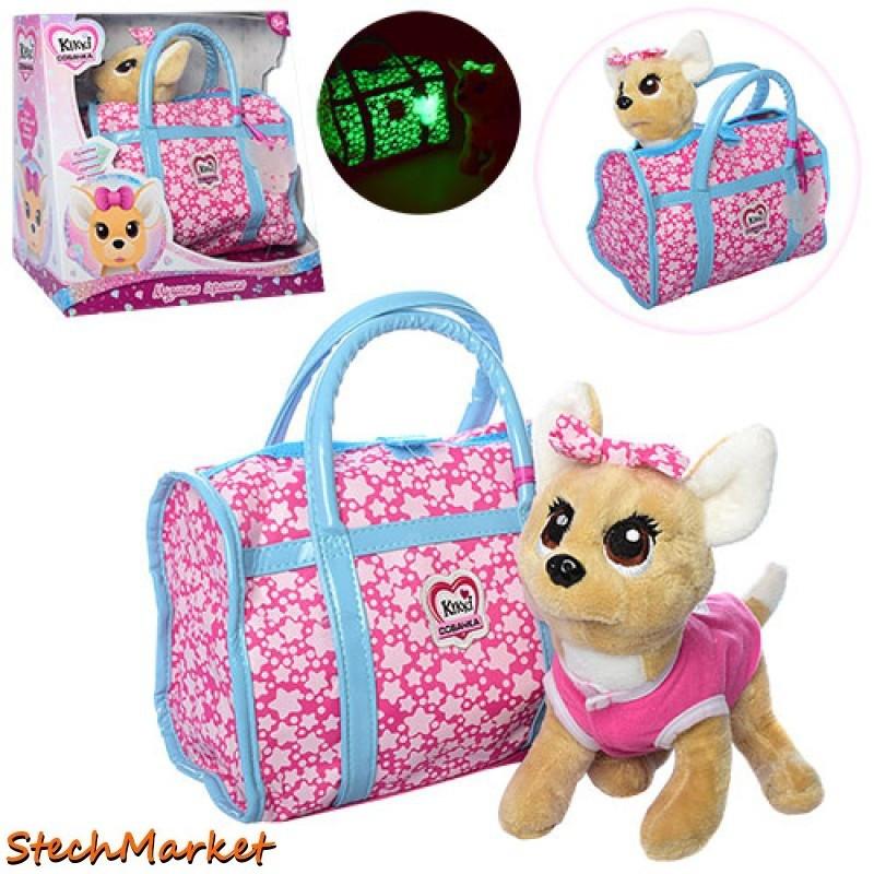 """Интерактивная игрушка """"Собачка Кикки"""" M 3835-N-RU 22 см в сумочке"""