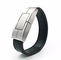 Флешка - стильный кожаный браслет 64GB