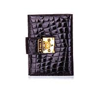 Обложка для паспорта женская кожаная Bristan Wero черная