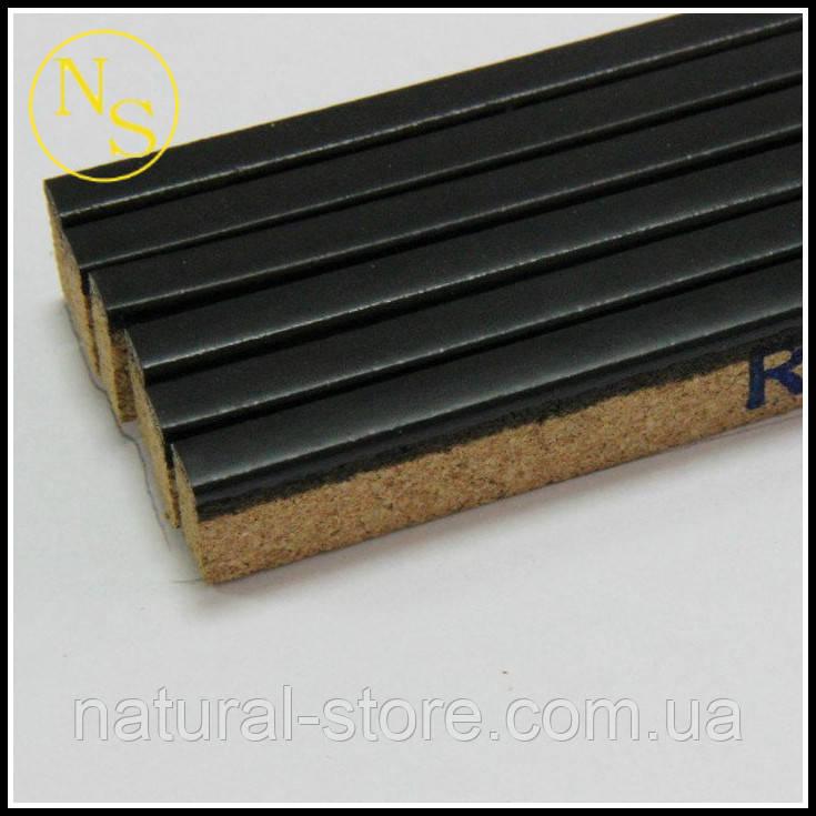 Пробковый порожек (компенсатор) RG 101 черный 900х15х7мм