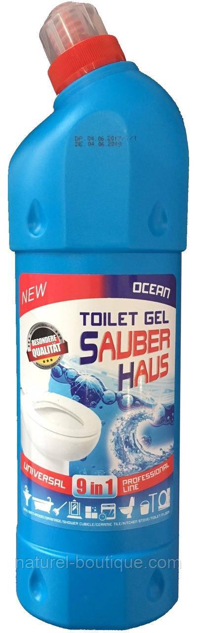 Универсальный гель для туалета Sauber Haus Океан  1 л