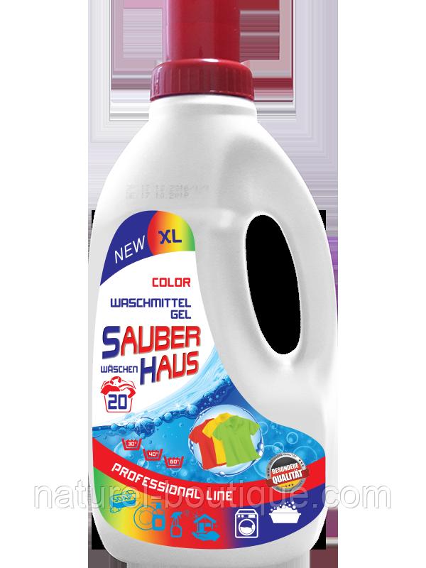 Гель для стирки цветного белья Sauber Haus 1  л