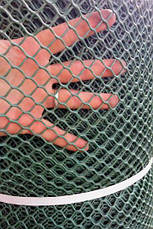 Забор садовый.Ячейка 20х20 мм, рул. 50см х 30 м (темно-зеленая).Ромб(Сота), фото 3