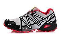 Мужские кроссовки Salomon Speedcross 3 M12 серые оригинал