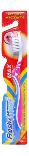 Зубная щетка Meggi Fresh&White Max Effect, средней жесткости