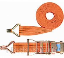 Ремень багажный с крюками 0,05 х 6 м храповый механизмом STELS 54385