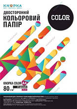 Папір кольоровий Knopka, A4, 80 г/м², 25 аркушів, NEOPI, рожевий неон