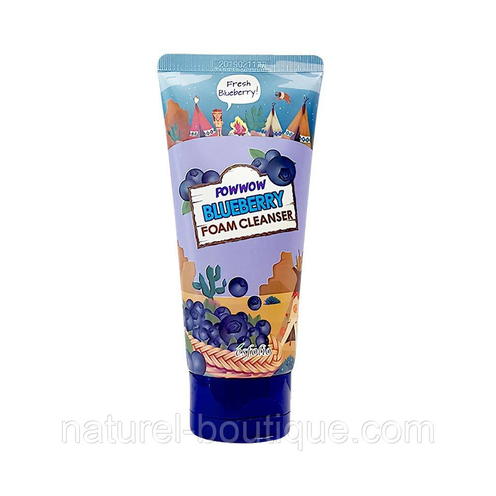 Пена для лица Esfolio Powwow Blueberry Foam Cleanser с черникой